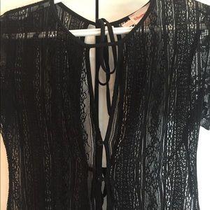 Showpo. Tops - Black lace bodysuit